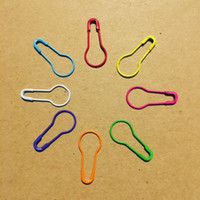 Wholesale Wholesale Safety Pins - 22mm colorful safety pin in bulb pear shaped coilless style 1000 pcs per pack 10 colors mixed