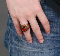 Wholesale Wholesale Titanium Black Diamond Rings - Cheap 20pcs lot 2016 Arrival Size8-11 High quanlity Titanium steel men's ring with diamonds black gold luxury south American Ring Jewelry