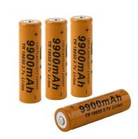 Wholesale Li Ion Battery For Flashlight - TR 3.7V 18650 9900mAh Li-ion Rechargeable Battery 18650 Lithium Batteries Baterias Bateria For Flashlight Headlamp Brown Red Yellow