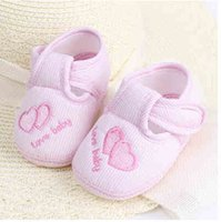 Wholesale Period Shoes - First walkers Baby soft bottom the spring and autumn period and the 1-12 months old baby toddler shoes free shipping