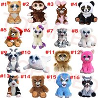 Wholesale Cartoon Stuffed - DHL Feisty Pets One second Change face Animals 20CM 8 Inch Plush toys cartoon TY monkey bear unicorn Stuffed Animals baby Christmas gift