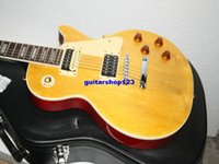 Wholesale Guitar Case Oem - New Arrival Custom Lemon Burst Custom Shop Electric Guitar with case OEM Available HOT Chinese guitar
