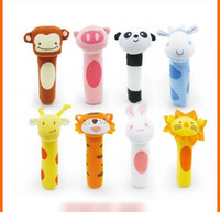 Wholesale Panda Sticks - BIBI Wand grip baby toy Ox tiger lion panda rabbit monkey deer Animal BB stick toy