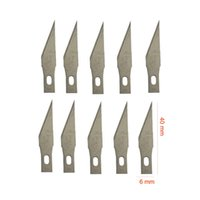 Wholesale Tools For Crafts - A lot 10 pieces of No.11#, 16#, 17#, 18# Graver Blades for Art knife Pen knife Cutter knife Craft knife of YS 92 93, RHINO 984 985, WIT W900