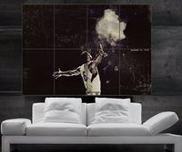Wholesale Heat James - LeBron James Miami Poster Art Print MVP heat miami slam dunk Wall Poster 8parts giant huge free shipping NO10-185