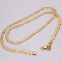 Wholesale Cheap Jewelry Gifts For Men - 18k gold plated flat snake chain necklace for men fashion luxury jewelry drop shipping oem cheap 22inch man necklace wholesale
