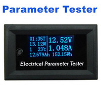 Wholesale Time Display Meter - high precision 7 in 1 digital display electrical parameter Tester Voltage current Time temperature capacity meter voltmeter Ammeter
