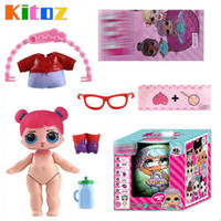 Wholesale Latex Fashions For Kids - Kitoz Surprise Doll Series 2 Girl Baby Sisters Friends Ball Egg 7 Layers Fun Unpack Magic Surpresa Toy Feed Bottle For Kid