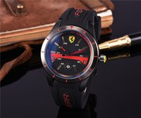 Wholesale Italy Car - 2017 Italy top brand watch F1 Sports car watches calendar three eyes men sports Men's Watches Relogio fashion Casual luxury Watch AAA Reloj