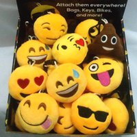 Wholesale Men Metal Stainless Steel - Cartoon Plush Emoji Kehchain Cute Expression Dolls Keychain Different Face Emoji Keychain Kids Toy Free Shipping