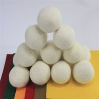 Wholesale Static Balls - 6pcs Premium 100% Wool Dryer Balls Reduce Wrinkles Reusable Natural Fabric Softener Anti Static Large Felted Organic Wool Clothes Dryer Ball