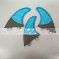 Wholesale fast shipping OEM design surfboard longboards side fins half carbon and color honey comb G5 fins fcs fins
