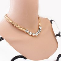 Wholesale Snake Bib Necklace - Women Chain Necklace Jewelry Crystal Choker Chunky Statement Bib Collar Pendant Necklaces
