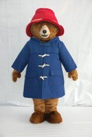 Wholesale Characters Costume - High-quality Real Pictures paddington bear Mascot Costume Mascot Cartoon Character Costume Adult Size free shipping