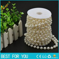 Wholesale Decorative Beads Curtains - New hot Free shipping 20m high quality ABS wiring bead imitation pearls DIY pearl curtain romantic wedding decorative background
