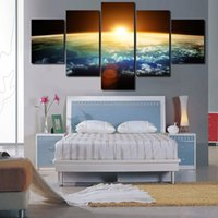5 Panels HD The Dawn Of the Universe Painel Modern Home Decoration Canvas Pintura Wall Art Deco Entrega gratuita