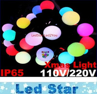 Wholesale Home Lighting Decoration For Birthdays - Multicolor 110V   220V 5M 50LEDs 10M 100LEDs Linkable Ball holiday String Light For Home Decoration Wedding Birthday Holiday Chrismas Party