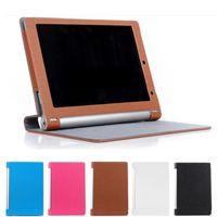 caja del folio de la tableta del yoga al por mayor-Funda de cuero plegable en folio PU para Lenovo Yoga Tablet PC B8000 Bolsa magnética de 10,1 pulgadas