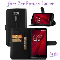 """Wholesale Asus Cell Phones - Wallet For Asus ZenFone 2 Flip Leather PU Case Stand Cell Phone Cases With Card Slot Laser ZE601KL 6"""" ZE500KL 5"""" ZE500CL Protective Cover"""