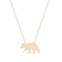 Wholesale Cute Polar Bear - 10pcs lot New Style Hot Sale Wholesale Cute Polar Bear Necklace Pendant Jewelry for Women and Girls