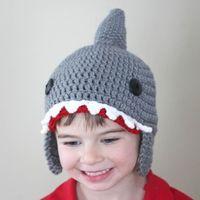 Wholesale Cartoon Sharks Hats - Children Wool Cap Autumn And Winter Handmade Wool Hat Hat Cartoon Animals Shark Hat