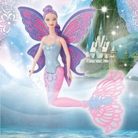 Wholesale 2016 Original Swimming Mermaid Dolls Fashion Ariel Mermaid Doll With Wings Toys Ariel Princess Jointed Mermaid Bonecas For Girls Gift