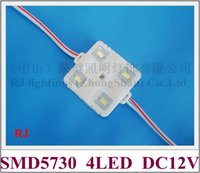 Wholesale Smd 37mm - injection LED module waterproof SMD 5730 LED advertising light module backlight back light DC12V 1.6W 4 led IP66 37mm*37mm*6mm