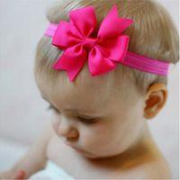 Wholesale Elastic Stretch Bows - 15% off! 3 inch Baby Headband Boutique Bow-elastic headband - 21 solid color headband - stretch headband-girls headband-baby headband 100pcs