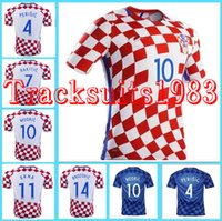 Wholesale Croatiaes Jerseys Shirt MANDZUKIC MODRIC Hrvatska European Cup Home Away Wholesalers rugby Jersey