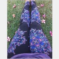 Wholesale Size Slimming Leggings - 2016 Womens Outdoors Feather Leggings Women European Floral Printed Christmas Leggings Slim Fitness Plue Size High Waisted Elastic Leggings