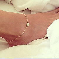 Wholesale Trendy Fashion Legging Wholesale - 2016 New Fashion Silver Origami Owl Gold Plated Anklet Bracelet The Heart Ankle   Beach Barefoot Chain On Leg Foot Wedding Jewelry