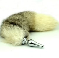 Wholesale Tail Butt Sm - Hot Newest Style Small Middle Big Butt Plug Adult Sexy Toy Fox Tail Anal Plug Metal Butt Plug Anal Sex Toy Bdsm Sm Sex toys Free Shipping