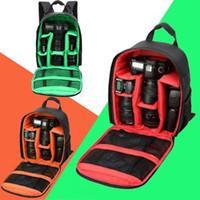 Wholesale Dslr Camera Bag Backpack - Waterproof DSLR SLR Camera Backpack Case Bags for Nikon D7100 D3100 D7000 D90 60 Luggage Travel Back Pack