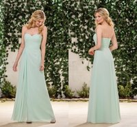 Wholesale Simply Dresses Black - 2016 Fall Jasmine Mint Green Cheap Bridesmaid Dresses Sweetheart Sleeveless A Line Simply Long Floor Length Junior Bridesmaid DressesB183053
