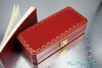 Wholesale CAR T R High Quality Top Grade Red and Golden Trim Lockable Gift Box for Pen with The Warranty Manual
