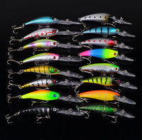 Wholesale Saltwater Lure Sets - 16pcs set Minnow Fishing Lures Mixed 2 Models 16 Color Minnow Fishing Wobblers Crankbaits Mix Fishing Tackle