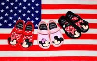 Wholesale Summer Child Sandals Cartoon - Minnie Mouse Shoes jelly Sandals 3 Color Summer Baby Girls Cute Cartoon Beach Shoes Infantil Sandalia Kids Footwear Children Sandals