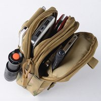 Wholesale Travel Pouch Waist For Men - Portable Outdoor Military Tactical Belt Waist Bags Men Waterproof Nylon Mobile Phone Wallet Travel Sport Waist Pack