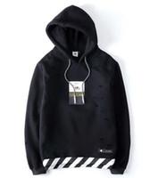 Wholesale Polka Dot Hoodies - Hooded Hole Twill Hoodies Men Hip Hop Swag Streetwear Men Hoodie Famous Brand Men Sport Suit Sweatshirts