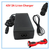 Wholesale Powering Scooter - 42V 2A Universal Battery Charger, 100-240VAC Power Supply for 36V Self Balancing Scooter Hoverboard lithium charger free shipping