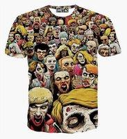 Wholesale Superman Long Sleeve Mens - Summer 3D mens short-sleeved shirt superman captain America t shirt for men women funny Graphic 3d TShirt Free shipping