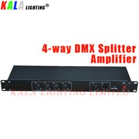 (2Pcs / Lot) Moving Distributore a 4 vie Responsabile Fase di illuminazione DMX512 segnale DMX Splitter Amplifier