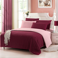 Wholesale Twin Size Beds For Sale - Bed Sheet Sale Promotion 4 Pcs Orange 2016 Cotton Duvet Cover Sets 4 Piece Suit Comfort Simple Modern for Twin Full And for Queen Bed Size