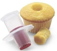 torta corer émbolo al por mayor-2016 nuevo color aleatorio !! Cocina Cupcake Muffin Cake Corer Plunger Cutter Pastelería Decorating Divider Molder Modelo