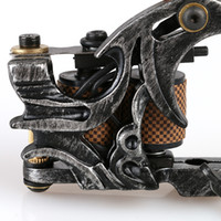 nova metralhadora tatuagem artesanal venda por atacado-NOVO! Máquina de Tatuagem De Bobina De Ferro De fundição artesanal Shader 10 Bobinas Tattoo Gun para Kits de Tatuagem TM8324
