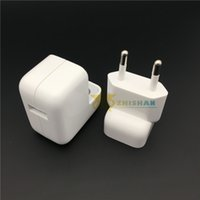 Wholesale Apple 12w Usb Power Adapter - charger 2.4A Fast Charging Original Euro Charger Genuine 12W USB Power Adapter for iPad 4 5 Mini Air iPhone 5s