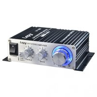 Wholesale stereo power audio amplifier - DHL 10PCS Car Lepy LP-V3S Amplifier Hi-Fi digital V3 USB FM Stereo Super Bass Audio Power Amplifier Car 2 channel amplifier