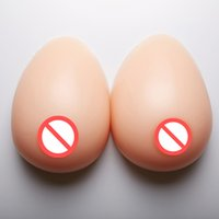 Wholesale Breasts Forms - Comfortable Silicone Breast Form Bust Pads Fake Breast Form Crossdress Artificial Breast 1 Pair 1000g