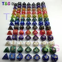 dados dos dragões das masmorras venda por atacado-7 pc / lote jogo de dados de Alta qualidade Multi-Sided Dice com efeito de mármore D4D6 D8 D10 D10 D12D20 DUNGEON e DRAGÕES Dd rpg dados personalizados