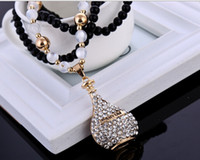 Wholesale Perfume Bottles Products - Free shipping 2016 The upscale rose gold electroplates perfume bottle pendantl sweater chain new product wholesale